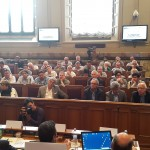 La platea nel sala del parlamentino del Cnel