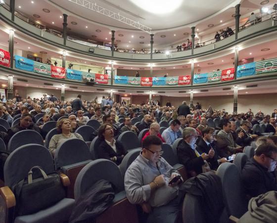 Roma, 5 aprile 2016: Assemblea nazionale Cgil, Cisl, Uil dei lavoratori delle costruzioni 'Lavoro, pensioni, contratto. Uniti per il futuro'  © Simona Caleo/Cgil