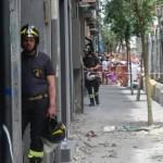 tragedia Napoli cornicione